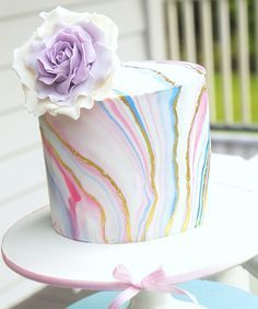 SugarEd Productions Online Classes- Marbled Fondant technique