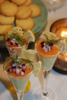 A new coctail Raw Food Recipes, Vegetarian Recipes, Tapas, A Food, Food And Drink, Swedish Recipes, Dessert For Dinner, Fish And Seafood, Soul Food