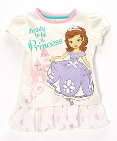 White Sofia the First  Ready to Be a Princess  Ruffle Tee - Girls 36bb02e87