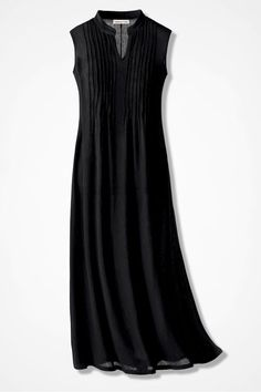 Easy Breezy Gauze Maxi Dress - Coldwater Creek - again I like this neckline