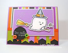 love the colors on  this Halloween card - bjl