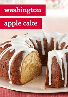 Washington Apple Cake -- Here's a cake recipe George Washington would approve of. A moist apple cake served with sweet sour cream icing, this is a presidentially flavorful dessert.