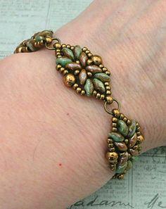 Linda's Crafty Inspirations: Bracelet of the Day: Loretta Deco - Turquoise & Chocolate