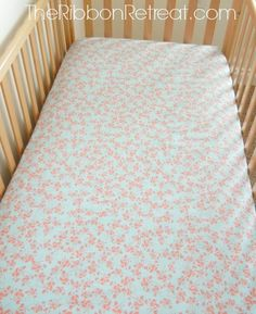 How to Make a Crib Sheet - The Ribbon Retreat Blog