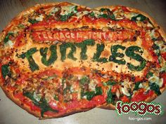 TMNT Logo Pizza!!! Yeeaah!!