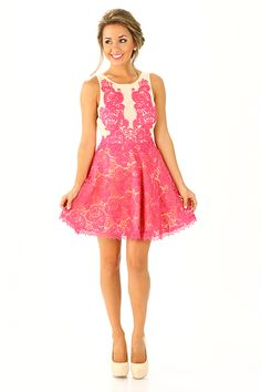 The Duchess Dress: Pink. Cute dress for wedding season! Cute Summer Dresses, Cute Dresses, Cute Outfits, Pink Fashion, Fashion Outfits, Womens Fashion, Dress Skirt, Dress Up, Dress To Impress