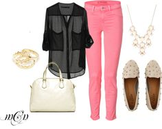 """""""Pink, Black and White"""""""