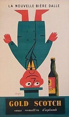 ¤ Raymond Savignac, la nouvelle bière Dalle. Gold scotch vous remettra d'aplomb.