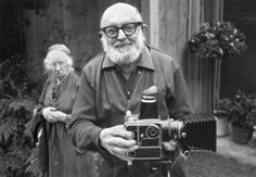 ansel adams and imogen cunningham, 1975 • alan ross - climbed Yosemite Falls in street shoes. made his own insanely goofy but effective camera.  mounted it on a jeep. left an amazing legacy.