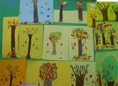 LO ZAINETTO » …con il cartoncino colorato mettiamo sottosopra il bosco d' autunno