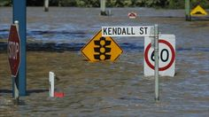 There was some flooding in Bundaberg. I felt sad for the street signs.