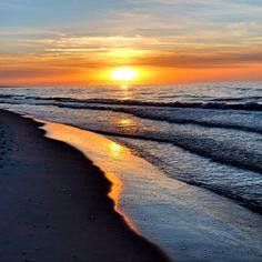 Sunset Poland Leba