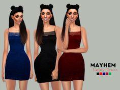 Kelley Dress by NataliMayhem at TSR via Sims 4 Updates