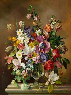 Ernest Payne, Vase of Spring Flowers, 1963