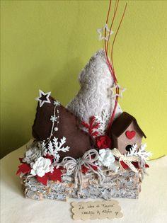 Composizione natalizia in feltro