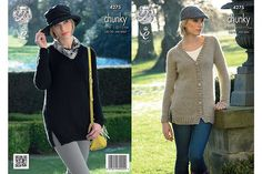 Ravelry: Sweater and Cardigan in New Magnum Chunky pattern by King Cole Ltd