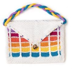 Rainbow purse free knitting pattern