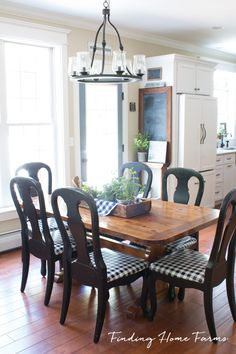 Casual Farmhouse Kitchen with loads of Vintage Touches by Finding Home Farms