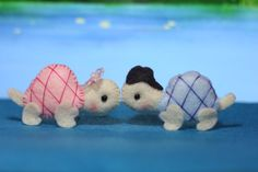A Pair Of Turtle Felt Plush Party Favor by Tinahi on Etsy, $15.00