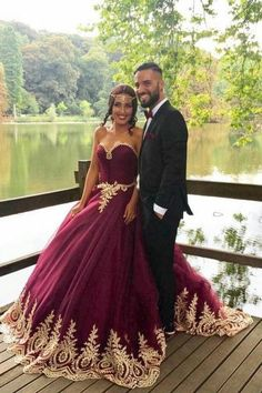 maroon and gold prom dress 2016-2017 » B2B Fashion | Prommamia ...
