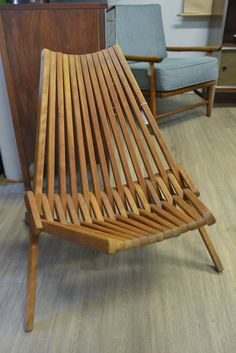 Mid Century Danish Teak Folding Panamericana Chair