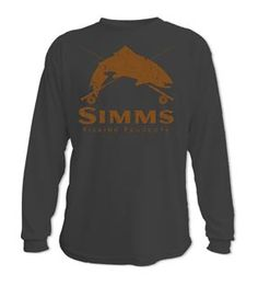 Simms Fishing Products Simms Graphic T-shirt - Simms Crest Long Sleeve xl