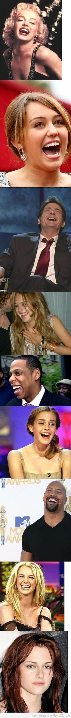 How celebrities laugh...