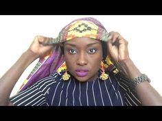 Attacher un foulard nigerien simplifie. Headwrap - YouTube Afro, Turban Headbands, Silk Scarves, Head Wraps, My Hair, Beanie, African, Languages, Tutorials