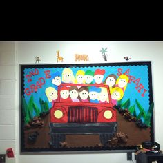Second Grade Safari!  I used this bulletin board at the beginning of the year.  Each child in the jeep was made to resemble a student.... This is one of my all time favorites!