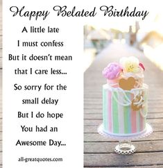 Free Belated Birthday Cards Share On Facebook