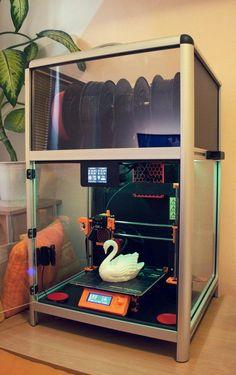 printer design printer projects printer diy DIY Home Ideas DIY Home Ideas Universal Printer Smart Enclosure by JKSniper - Thingiverse y. 3d Printing Business, 3d Printing Diy, 3d Printing Service, 3d Printing Machine, 3d Printer Designs, 3d Printer Projects, Arduino Projects, Impression 3d, Diy 3d Drucker