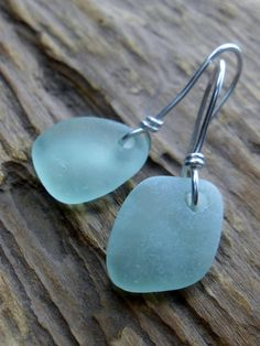 Sea Glass Jewelry  Beach Glass Wedding Earrings  by SeaFindDesigns