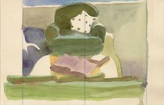 Pale original watercolor on vintage paper by annamariapotamiti, $62.00