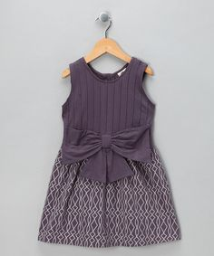 Take a look at this Violet Pin Tuck Organic Bow Dress - Infant, Toddler & Girls by Kate Quinn Organics Girls on #zulily today!