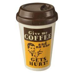 Coffee Break Travel Mug Salt or Pepper Shaker - Tittles & Bits