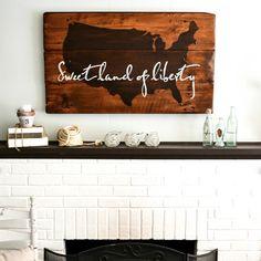 """United States"" Wood Sign"