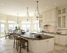 Premier - Traditional - Kitchen - boston - by Venegas and Company: favorite kitchen layout Traditional Style Kitchen Design, Traditional House, Traditional Cabinets, Traditional Kitchens, New Kitchen, Kitchen Dining, Kitchen Ideas, Kitchen Decor, Dining Rooms