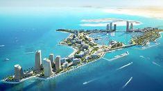 Delightful Master Planning in Dubai by Luxury Antonovich Design Mercedes S Class Interior, City Super, Sci Fi City, Concept Art World, Ocean House, Fantasy Castle, Companies In Dubai, Aircraft Design, New City