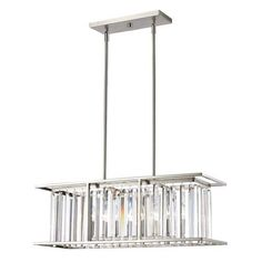 Avery Home Lighting Monarch 5-light Island Light in Brushed Nickel - Overstock - 11190862 Rectangular Chandelier, Linear Chandelier, Chandelier Lighting, Crystal Chandeliers, Chandelier Shades, Pool Table Lighting, Island Lighting, Kitchen Lighting, Transitional Coffee Tables