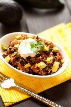 Smoky Black Bean, Poblano Pepper & Quinoa Salad - Cooking Quinoa