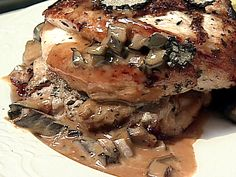 Roasted Chicken with Truffle Sauce Recipe : Food Network Truffle Sauce, Truffle Oil, Roasted Potato Recipes, Chicken Recipes, Chicken Meals, Roasted Potatoes, Turkey Recipes, Tartufo Recipe, Sauces