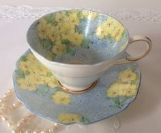 Hand Painted Paragon China Tea Cup & Saucer