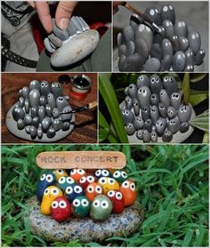 Isn't This Rock Concert Stone Art Simply Adorable?