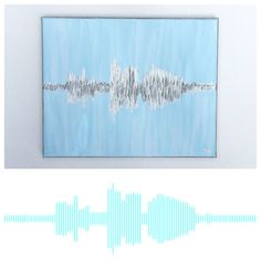 Turn wedding vows, a favorite quote, a child saying I love you, etc. into a unique piece of art. The options are endless! You just provide an audio recording and choose your colors and Ill take it from there. Simple! You can even use your phone to record. This also works for heartbeats if you dont have a picture from your sonogram. Just record the heartbeat sound at your next appointment and send it to me to have a heartbeat painting done. Silver or gold for the actual soundwave/heartbea...