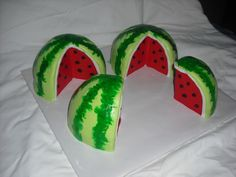 Watermelon! Watermelon! A town near us has a watermelon festival, and this was a birthday cake for a little boy going to the festival that day. Lemon... #top-cakes #watermelon #cakecentral