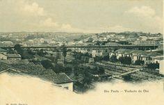 São Paulo Viaducto do Chá, postal