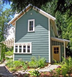 cottage plans, small house plans, cabin plans, small homes designed by Ross Chapin Modern Tiny House, Small House Design, Cottage Design, Modern House Plans, Small House Plans, Modern Barn, Unique Cottages, Small Cottages, Small Houses