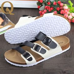 Casual Sandals Fashion cork slippers Male Summer Man Woman beach slippers flip slip-resistant trend of Sandals Female