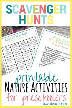 Looking for printable nature activities for preschoolers and families? Check out this free printable library of nature scavenger hunts and outdoor games Nature Activities, Summer Activities, Toddler Activities, Preschool Activities, Fun Outdoor Games, Outdoor Activities For Kids, Outdoor Play, Nature Scavenger Hunts, Preschool At Home