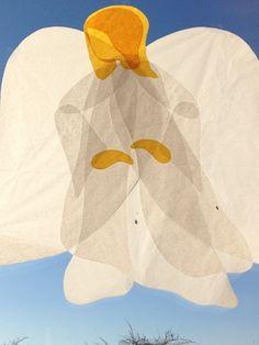 Engel aus Seidenpapier